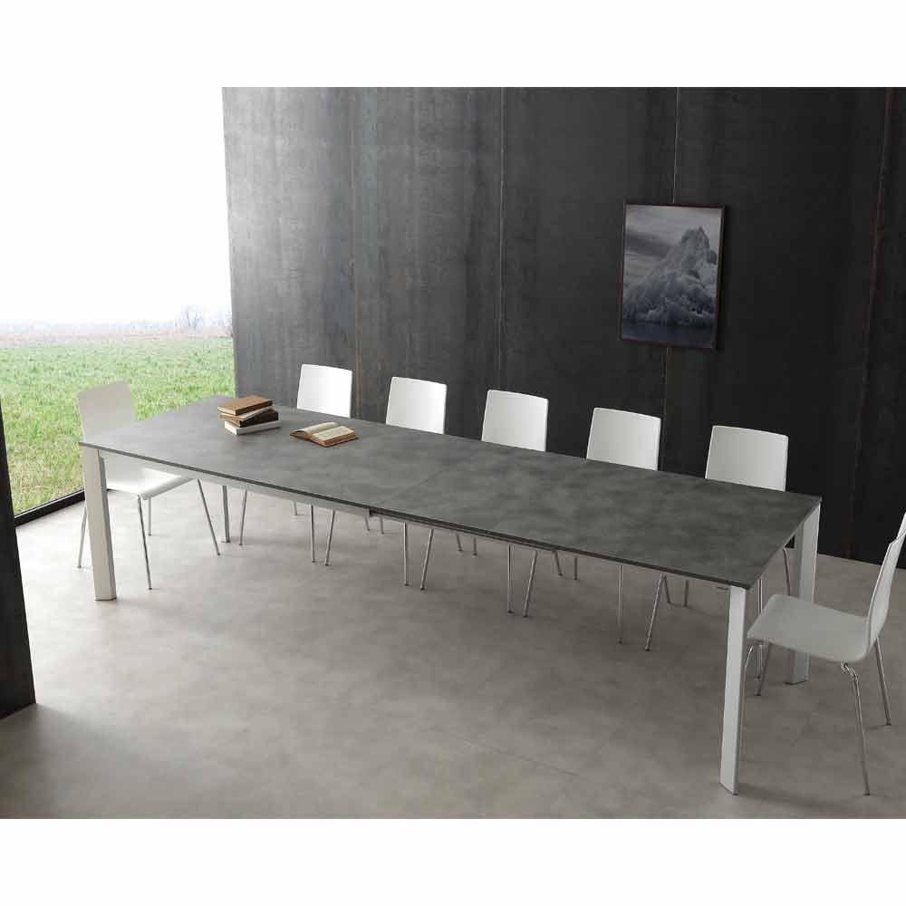 Table rallonge urbino en aluminium extensible jusqu 39 for Cuisine 3m de long