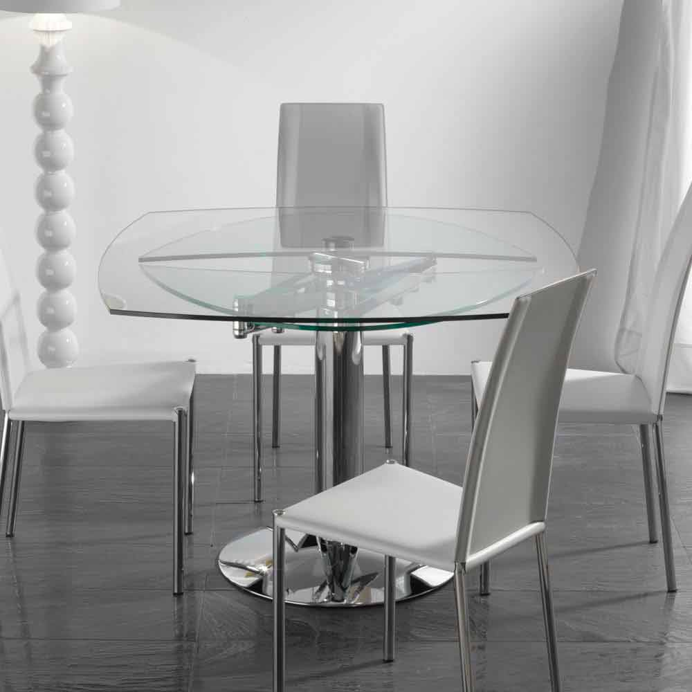 Table de salle manger extensible en verre tremp - Ikea tavoli tondi ...