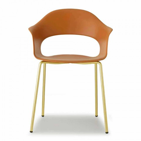 2 Chaises de Cuisine Modernes en Technopolymère Made in Italy - Scab Design Lady B