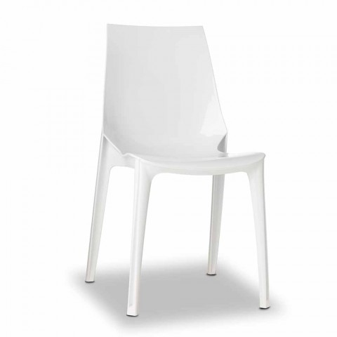 4 chaises design d'extérieur en polycarbonate Made in Italy - Scab Design Vanity