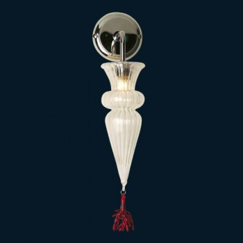 Applique en verre de Murano Classic Crystal Color Made in Italy - Precious