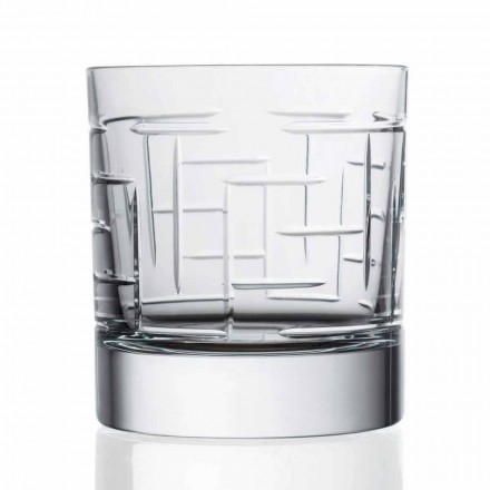 Verres Double Old Fashion Crystal Scotch Whisky 12 Pièces - Arythmie