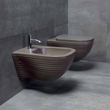 Bidet suspendu de design Made in Italy en céramique Trabia