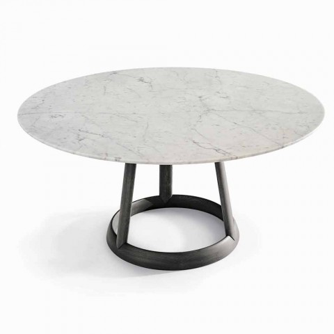 Bonaldo Greeny design de table ronde Carrara marbre fabriqué en Italie