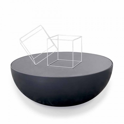 Table basse Bonaldo Planet design en verre gravé made in Italy