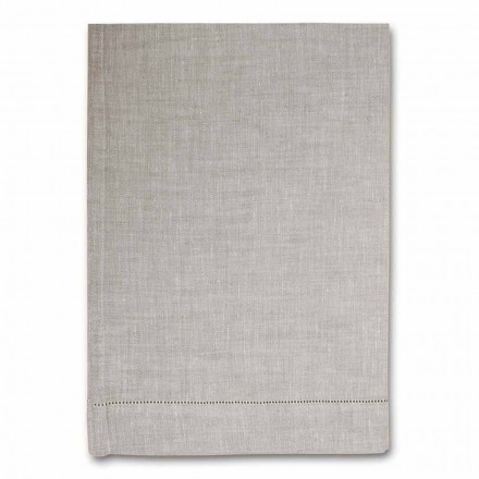 Serviette de cuisine en pur lin blanc ou naturel Made in Italy - Chiana