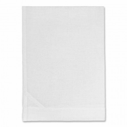 Serviette de cuisine en pur lin blanc ou naturel Made in Italy - Blessy