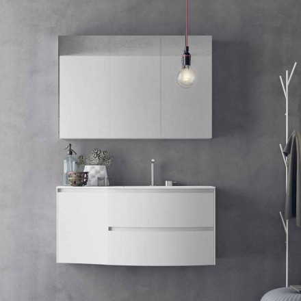 Composition de salle de bain moderne et suspendue Made in Italy Design - Callisi7