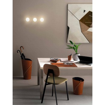 Composition de bureau de design moderne en cuir Made in Italy - Giulio