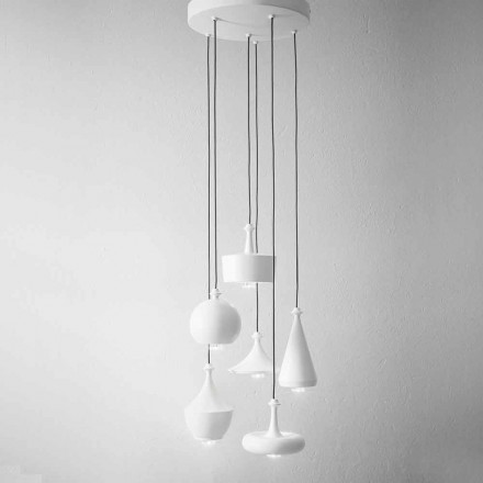 Composition Lampes à Suspension de Design – Lustrini Aldo Bernardi