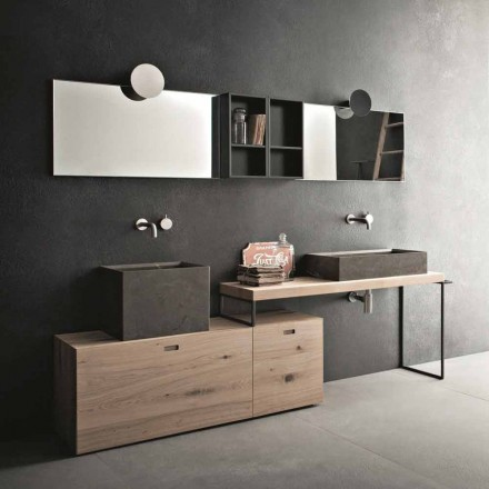 Composition de salle de bain moderne de meubles design au sol Made in Italy - Farart6