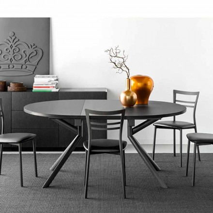 Connubia Calligaris Giove table extensible en céramique, L120/165 cm