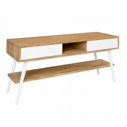 Table console design moderne en teck naturel Pistoia
