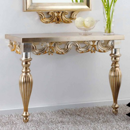 Console mural design classique  en bois Liss made in Italy