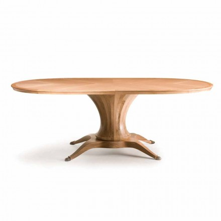 Fratelli Boffi Lui Oval table à manger ovale noyer naturel design