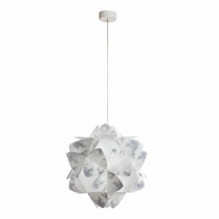 Lampe à suspension design moderne grise, diamètre 46 cm, Kaly