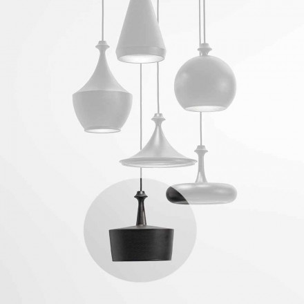 Lampe à Suspension LED en Céramique – Lustrini L6 Aldo Bernardi