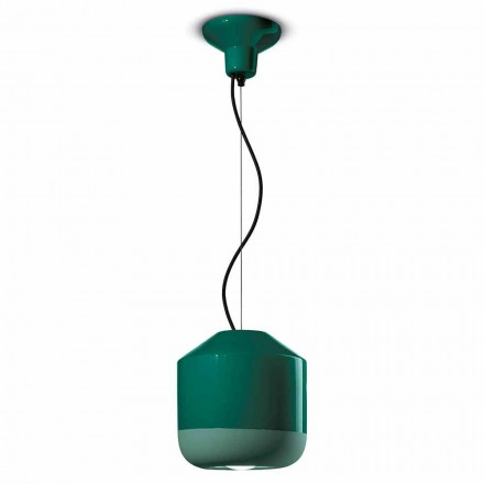 Lampe à suspension en céramique colorée Made in Italy - Ferroluce Bellota