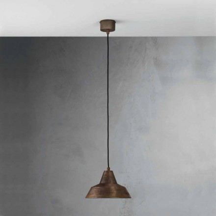 Suspension luminaire cloche en fer vieilli Virginia II Fanale