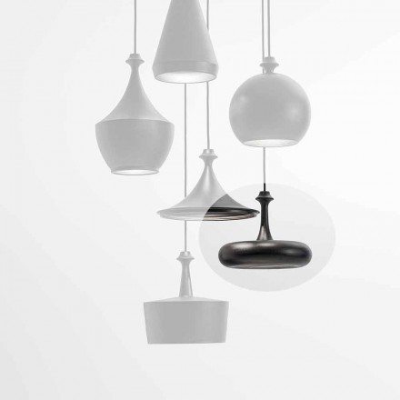 Lampe à Suspension LED Made in Italy en Céramique – Lustrini L4 Aldo Bernardi