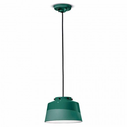 Lampe à Suspension Vintage en Céramique Made in Italy - Ferroluce Quindim