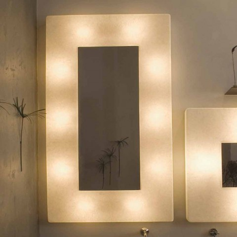 Applique design avec miroir In-es.artdesign Ego in nebulite
