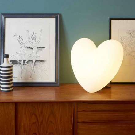 Lampe de table colorée en forme de coeur Slide Love, produite en Italie