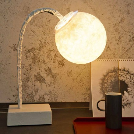 Lampe de table moderne à tige flexible In-es.artdesign MicroT Luna
