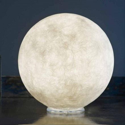 Lampe design de table In-es.artdesign T.moon en blanc nébulite