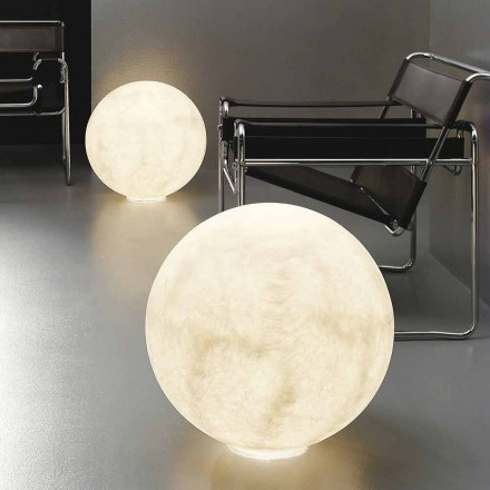 Lampe de table sphérique moderne In-es.artdesign Floor Moon nébulite