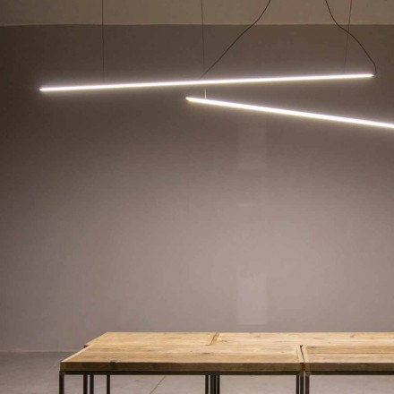 Lampe suspendue à la main en aluminium avec barre LED Made in Italy - Ledda