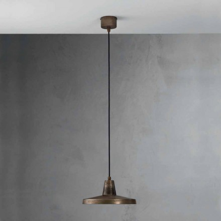 Suspension luminaire de design industriel en fer vieilli Monica