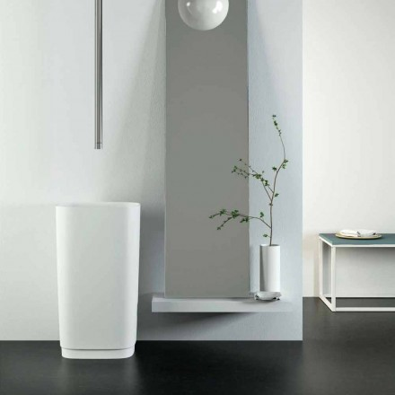 Lavabo sur pied circulaire de design moderne  made in Italy Lallio