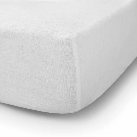 Drap-housse de lit double, simple ou double en lin - Copertino