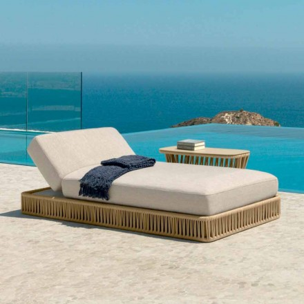 Chaise longue de jardin inclinable Cliff Talenti, design Palomba