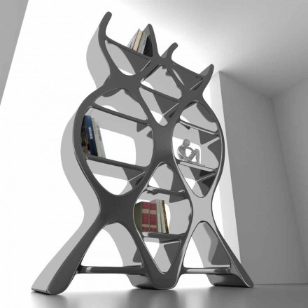 Bibliothèque de design moderne en Solid Surface® faite en Italie, DNA