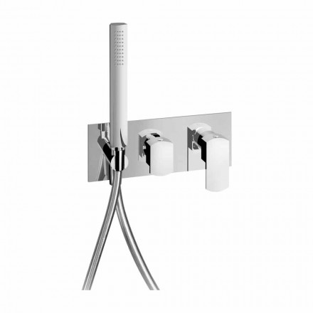 Mitigeur de douche encastrable au design moderne en laiton Made in Italy - Sika