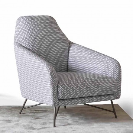 Fauteuil en tissu de moderne design My Home Wilma made in Italy