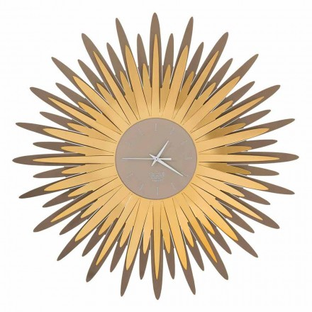Horloge Murale Moderne Forme de Fer Made in Italy - Fuoco