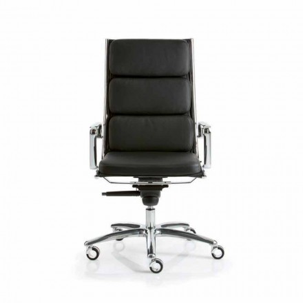 Fauteuil de direction en cuir de design moderne Light par Luxy
