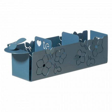 Porta The Sachets de The Floral of Modern Design in Iron Made in Italy - Marken