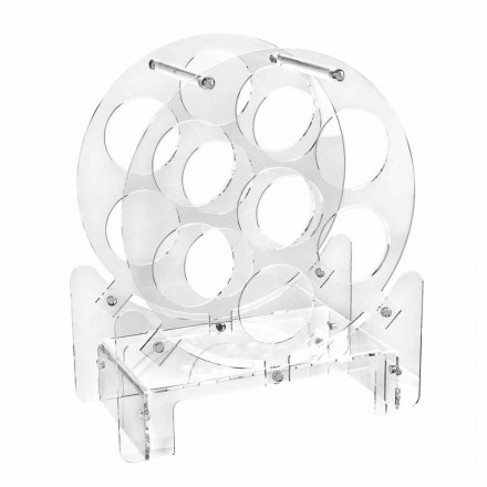 Porte-bouteille de table design en plexiglas transparent ou avec bois - Vinello