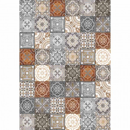 Chemin de Table Vintage Rectangulaire Design Pvc et Polyester - Dimetra
