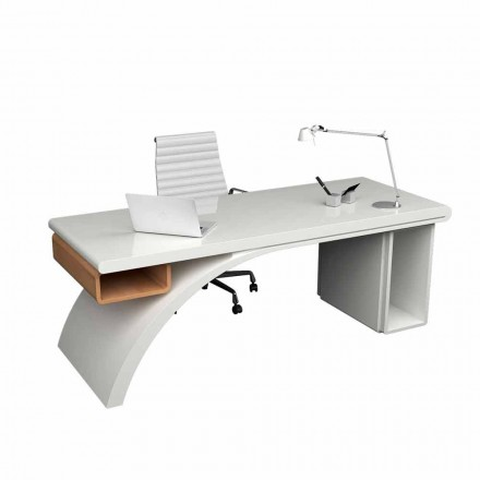Bureau de design moderne en bois et Solid Surface® Bridge