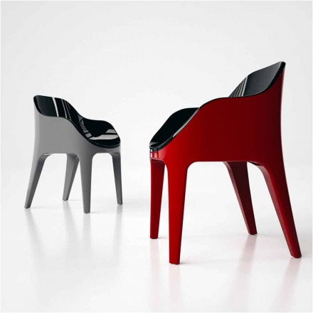 Chaise de design en Solid Surface® fabriquée en Italie, Pointer