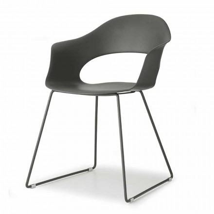 Chaise moderne avec structure luge Made in Italy, 2 pièces - Scab Design Lady B