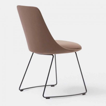 Chaise Moderne en Cuir avec base luge Made in Italy – itala Si
