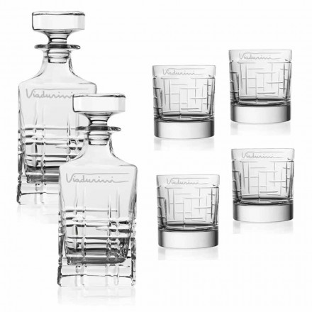 Service Crystal Eco Whisky, personnalisable avec logo, 6 pièces - Arythmie