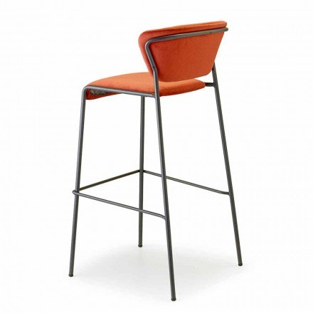 Tabouret de cuisine empilable en velours et acier Made in Italy - Scab Design Lisa