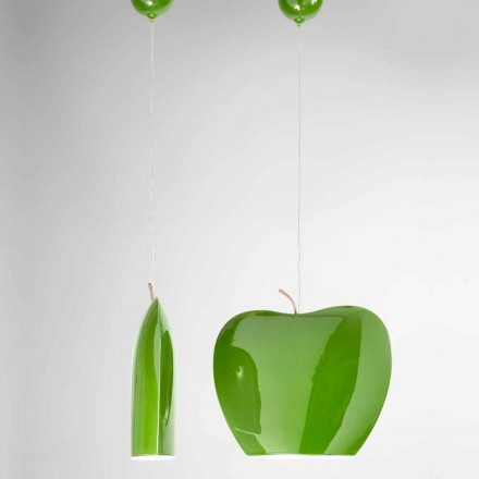 Suspension en Céramique de Design à Forme de Pomme – Fruits Aldo Bernardi